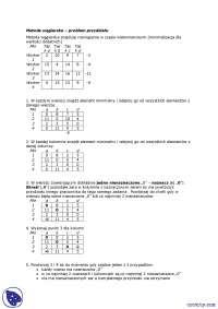 Metoda węgierska - Notatki - Badania operacyjne