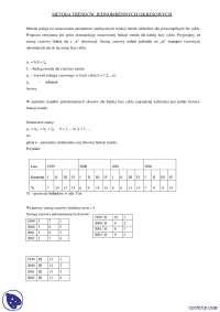 Metoda trendów jednoimiennych okresowych - Notatki - Ekonometria