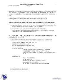 Princípios do Direito Ambiental - Apostilas - Direito Difuso