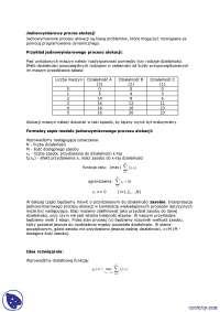 Jednowymiarowy proces alokacji - Notatki - Badania operacyjne