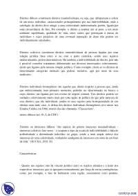 Direitos difusos e coletivos - Apostilas - Direito Difuso