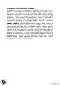 Finanse publiczne a finanse prywatne - Notatki - Finanse publiczne