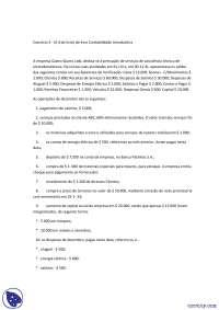 Modelo de Variações do Patrimônio Liquido - Exercicio - Coiencias Contabeis