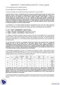 Nutrição Mineral de plantas - Exercícios - Engenharia Agronômica