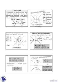 Hipérbole - Apostilas - Geometria Analítica