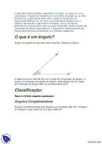 Noções de Geometria Plana - Apostilas - Matemática