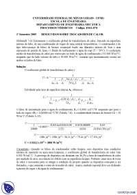 Trocadores de Calor - Exercícios - Engenharia