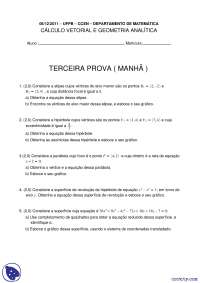 Cáculo Vetorial e Geometria Analítica - 06.12.2011 - Prova - UFPB