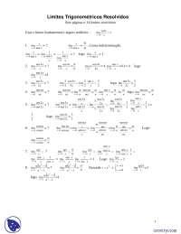 Limites Trigonometricos - Exercícios - Ciência da Computação