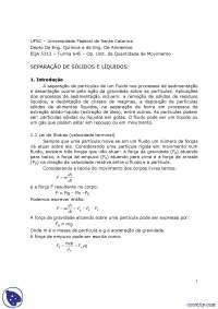 Separação Câmaras e Ciclones - Apostilas - Engenharia