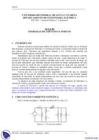 Teoremas de Thévenin e Norto - Apostilas - Circuitos Elétricos I, Notas de estudo de Eletrotécnica