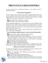 Prenatalna dijagnostika-skripta-Medicinska Genetika