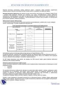 Rysunek techniczny elektryczny - Notatki - Inżynieria - Część 2