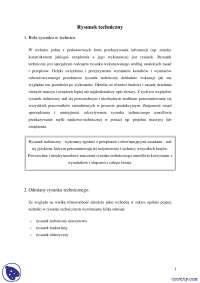 Rysunek techniczny - Notatki - Inżynieria - Część 1
