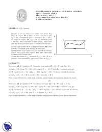 Prova Instituto de Física - Prova - UFRJ