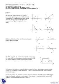 Movimento em uma Dimensão - Exercícios - Física Geral