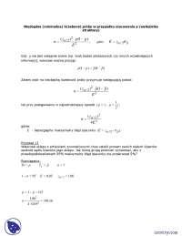 Niezbędna (minimalna) liczebność próby w przypadku szacowania p (wskaźnika struktury) - Notatki - Statystyka opisowa
