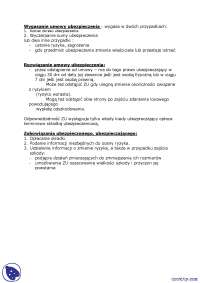 Wygasanie umowy ubezpieczenia - Notatki - Ubezpieczenia i ryzyko