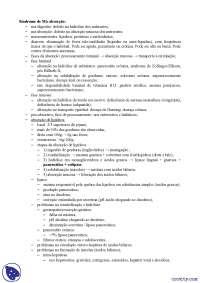 síndrome de má absorção - Apostilas - Gastroenterologia