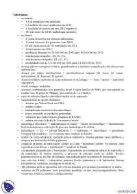 Tuberculose - Apostilas - Pneumologia