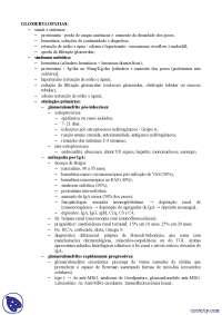Síndromes nefrítica e nefrótica - Apostilas - Nefrologia