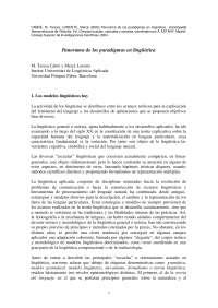 Una mirada por los paradigmas linguisticos - Apuntes - Linguística