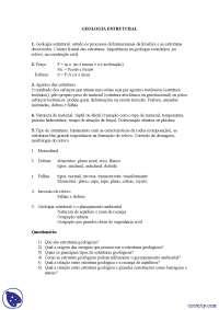 Geologia Estrutural - Exercícios - Fundamentos de Petrografia e Geologia