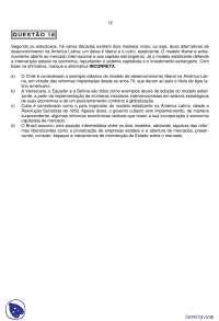 Vestibular de Geografia - Pontifícia Universidade Católica de Minas Gerais - 2010 - PUC MINAS