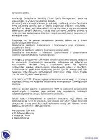 Zarządzanie jakością - Notatki - Zarządzanie