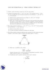 Física Básica Teórica IV - Exercícios - Física