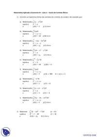 Teoria do Controle Ótimo - Exercícios - Matemática Aplicada à Economi