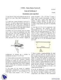 Elasticidade, tensão superficial - Exercícios - Física