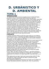 derecho urbanístico y medioambiental