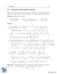 Integrali iracionalnih funkcija-Vezbe-Matematicka analiza 2-Matematika