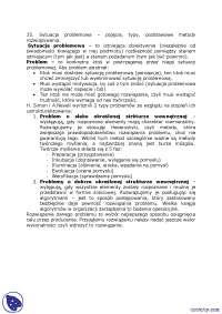 Sytuacja problemowa - Notatki - Zarządzanie