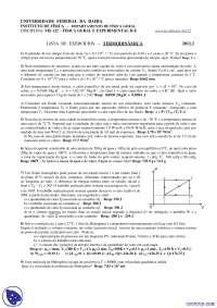 Termodinâmica - Exercícios - Física