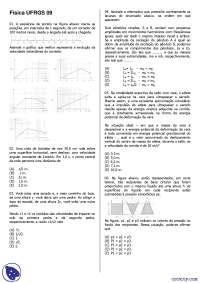 Vestibular de Física - Universidade Federal do Rio Grande do Sul - 2009 - UFRGS