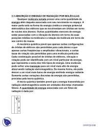 Absorção e Emissão de Radiação por Moléculas - Apostilas - Radiação Solar e Terrestre, Balanço de Calor - Física