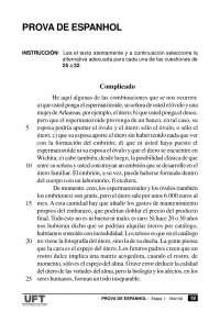Vestibular de Espanhol - 2007 - UFT