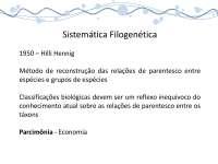 Sistemática filogenética - Apostilas - Biologia Molecular_Parte1