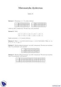 Permutacje - Ćwiczenia - Matematyka dyskretna
