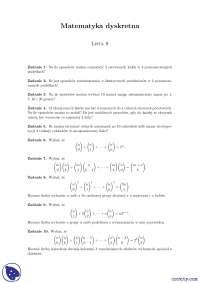 Teoria liczb -Ćwiczenia - Matematyka dyskretna