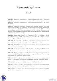 Elementy kombinatoryki 2 - Ćwiczenia - Matematyka dyskretna