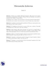 Elementy kombinatoryki 1 - Ćwiczenia - Matematyka dyskretna