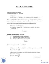 Matematicka Indukcija Skripta Masinski Fakultet Rezime Predlog Matematika Docsity