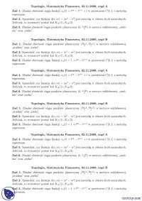 Zbieżności - Notatki - Topologia