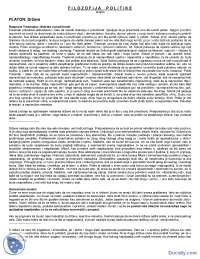 Filozofija politike-Platon-skripta-Istorija politickih teorija
