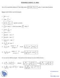 Integrali zadaci-Matematika 2-Masinski fakultet
