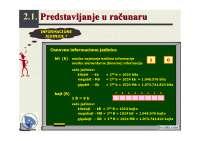 Predstavljanje podataka u racunaru-slajdovi-Informatika-Masinski fakultet