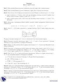 Ciągłość funkcji - Ćwiczenia - Topologia